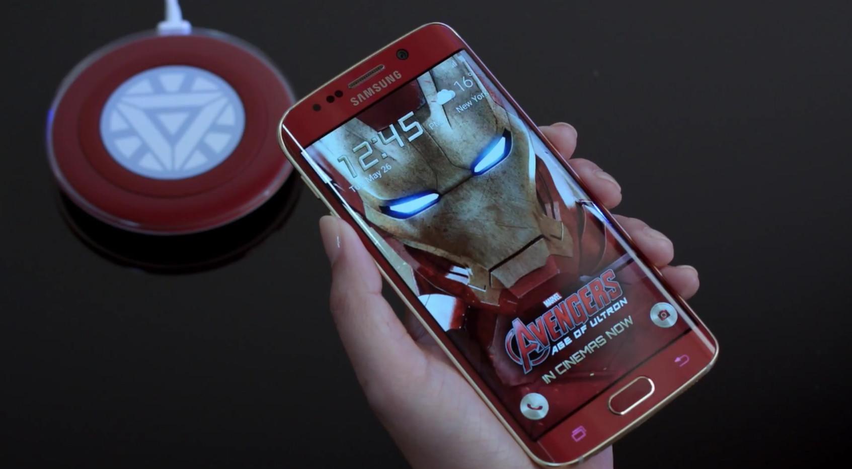 Samsung Galaxy S6 Edge и Железный Человек (2)