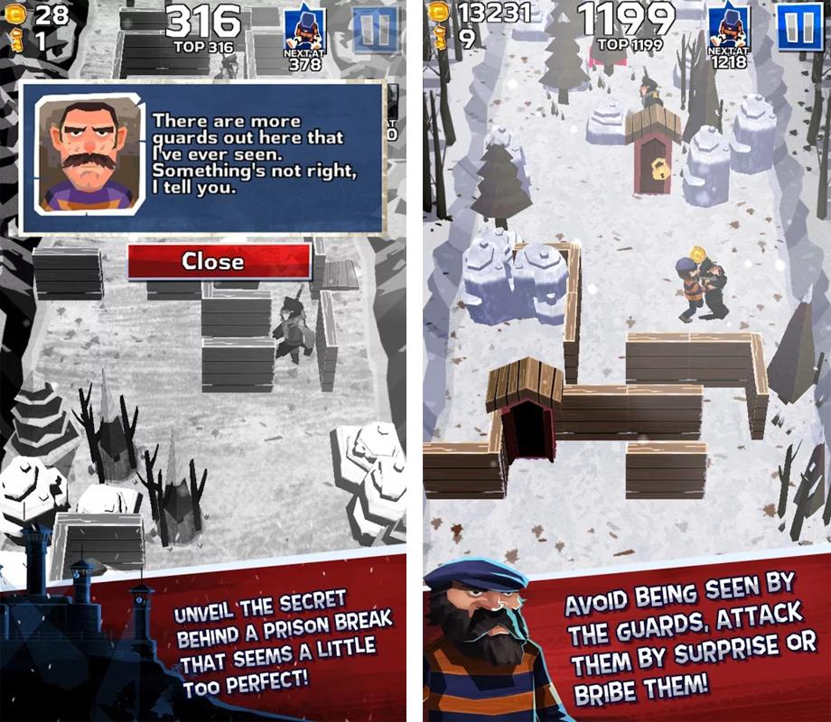 Winter Fugitives stealth game _