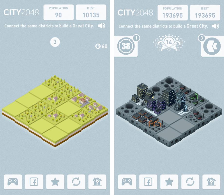 Игра City 2048
