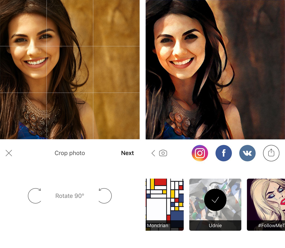 prisma приложение для фото IPHONE