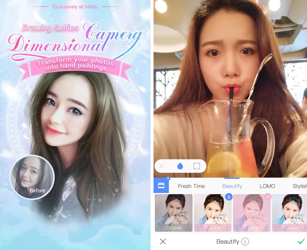 Аниме фоторедактор Meitu-android