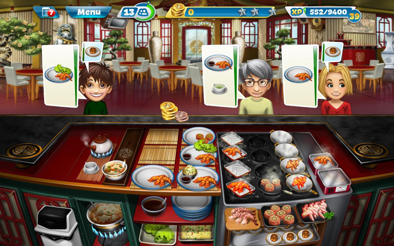 Игра Кухонная Лихорадка-android