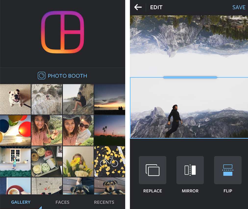 Приложение Layout from Instagram-android